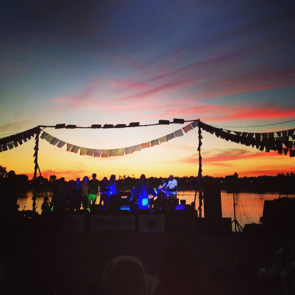Sunset with band